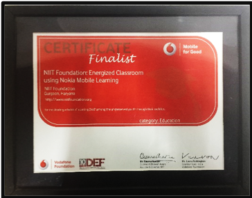 """Vodafone for Good Finalist"" 2013"