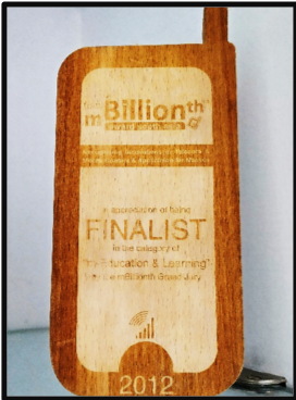 """M-Billionth Award for Mobile Learning Finalist"" 2012"