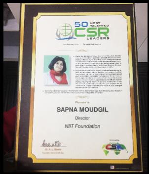 """Most Talented CSR Leader Award"" 2015"
